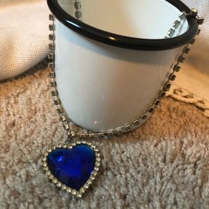 Titanic Blue Heart Necklace